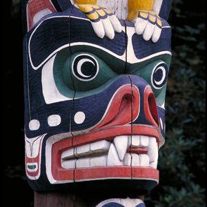 Stanley Park features numerous unique Totem poles