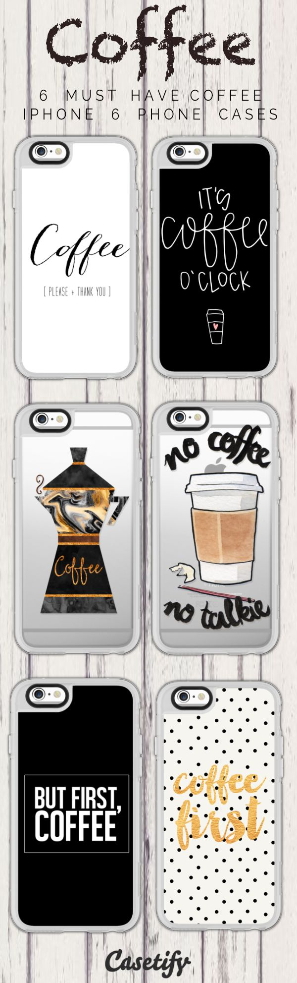 Top 6 Coffee iPhone 6 protective phone case designs | Click through to see more iPhone phone case designs >>> https://www.casetify.com/artworks/rwHrO7wUPq #coffee | @casetify