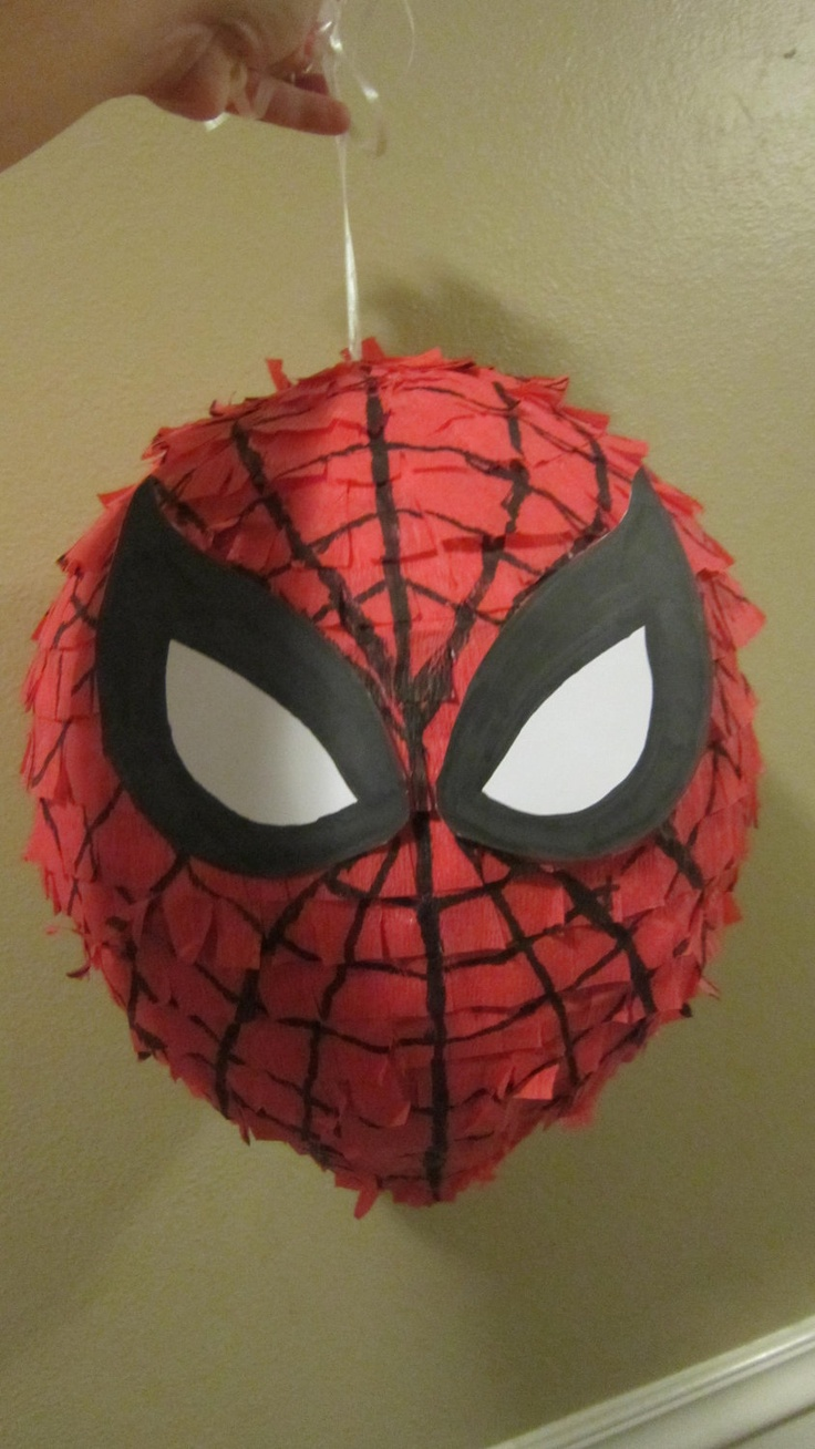 Spiderman pinata via Etsy.