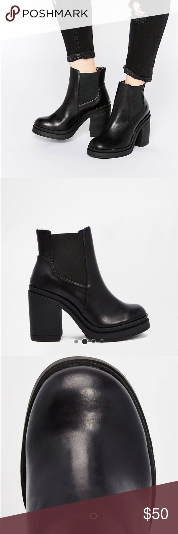 New Look Chunky Heeled boots size 8 Worn once inside. In excellent condition. Basically brand new without tags/ box. Size 8. Reasonable offers welcome. New Look Shoes Ankle Boots & Booties