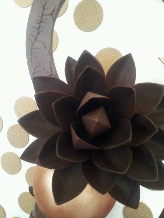 Sisko Chocolate lotus flower.  Beautiful and delicious! How can you go wrong with chocolate?