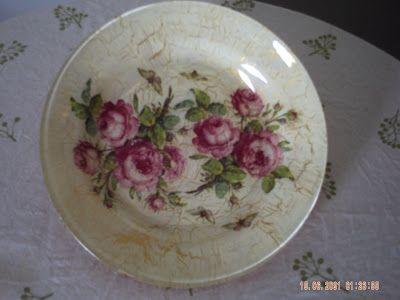 Casa de Juntados: Meus pratos com craquelê