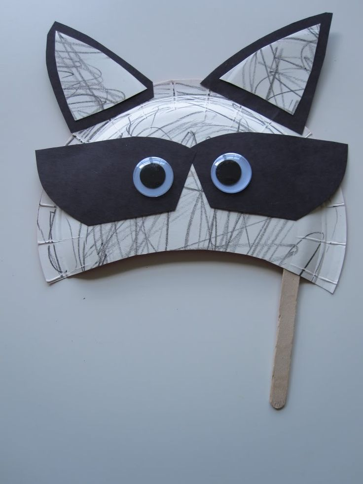 Raccoon Mask Craft — Blog: Art Activities & Fun Crafts Project Ideas for Kids — FamilyEducation.com