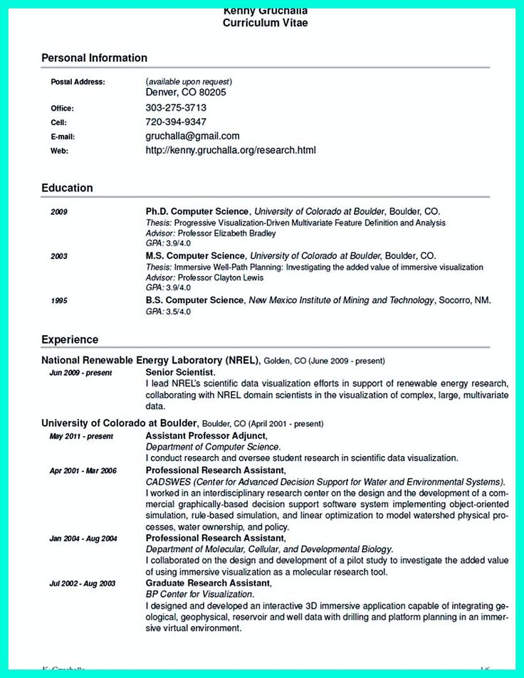 2695 best Resume Sample Template And Format images on Pinterest - science resume template