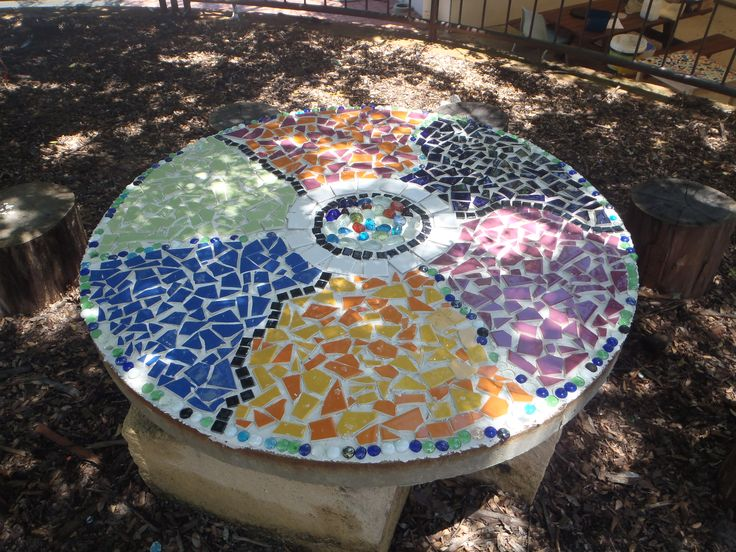 Mosaic outdoor table project