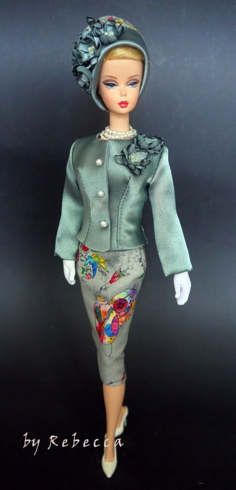 The outfit is made for Barbie Silkstone and Victoire Roux doll. Doll, shoes, jewelry and diorama are not included. Silk hat with silk flowers.   eBay!