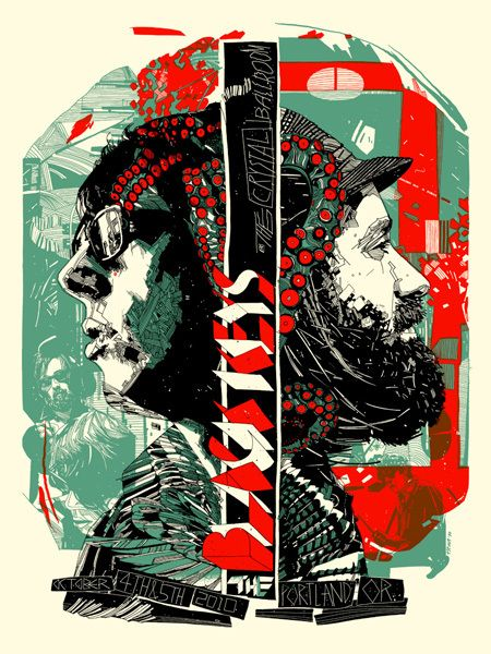Black Keys Gig Poster by Tyler Stout