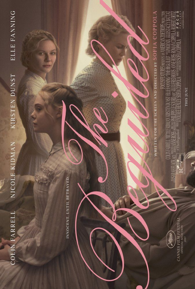 THE BEGUILDED At a girls' school in Virginia during the Civil War, where the young women have been sheltered from the outside world, a wounded Union soldier is taken in. Soon, the house is taken over with sexual tension, rivalries, and an unexpected turn of events.    US  June 30