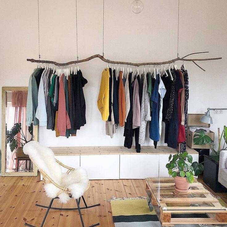 Wir sind hin und weg von der selbstgemachten Kleiderstange bei @vren1984 😍 #S… – Schlafzimmer