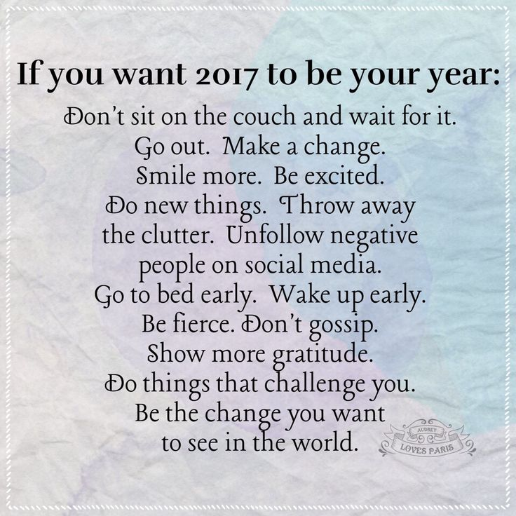 New mind set for 2017, it's time to make some changes...
