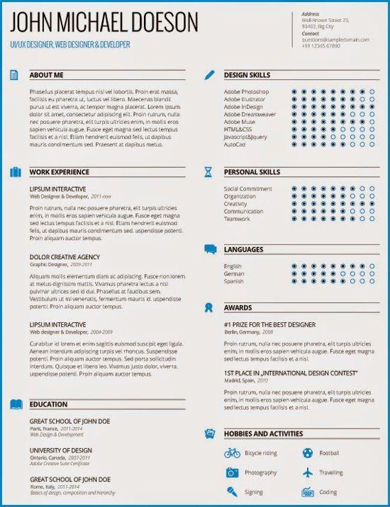 24 best Curriculum Vitae images on Pinterest Behavior, Career - curriculum resume sample
