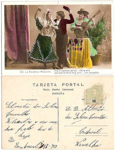 vintage postcard Spain