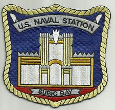 US NAVAL AIR STATION SUBIC BAY - PHILIPPINES - MILITARY PATCH GOLD TRIM