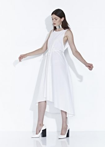 SHADOW DRESS - White - $270.00 : Green Horse, Lifestyle with a conscience