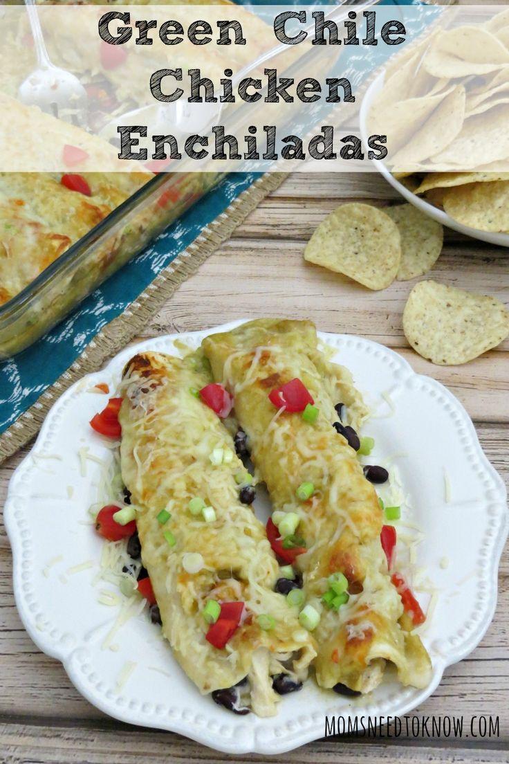 Green Chile Chicken Enchiladas | Recipe | The o'jays, Dinner tonight ...