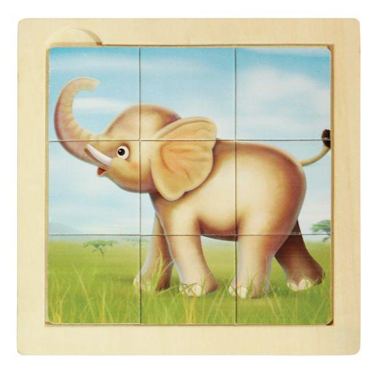PUZLE DE MADERA INFANTIL ELEFANTE Pequeño puzzle de madera para iniciar a los niños en los rompecabezas. Este es un elefantito muy gracioso de la selva y contiene 9 piezas de madera. Recomendado para niños de más de 2 años. PVP: 4,90 € #rompecabezasmadera #puzzleniños http://www.babycaprichos.com/puzle-de-madera-infantil-elefante.html