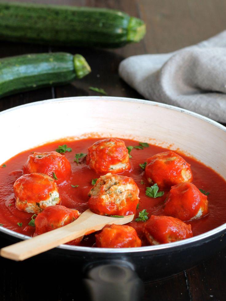 POLPETTE DI ZUCCHINE AL POMODORO ricetta veloce con verdure
