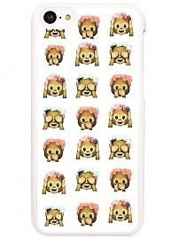 EMOJI AAPJES - HARD CASE - IPHONE 5C HOESJE