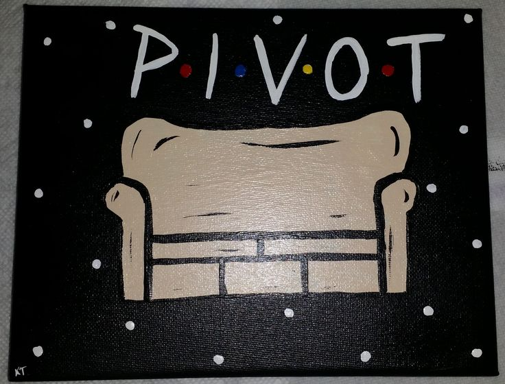 """FRIENDS TV Show Hand-Painted Canvas - """"Pivot"""" Couch"""