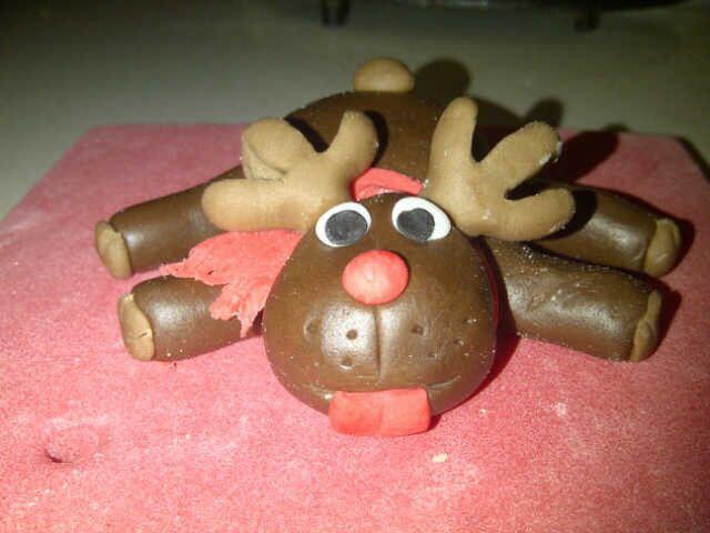 #rudolph Christmas cake sugar paste - torta natalizia renna regali e albero di natale con pasta di zucchero