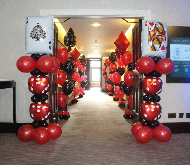 37 best images about casino theme balloon decor on for Balloon decoration accessories