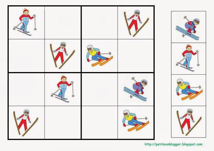 Zimní sportovní sudoku