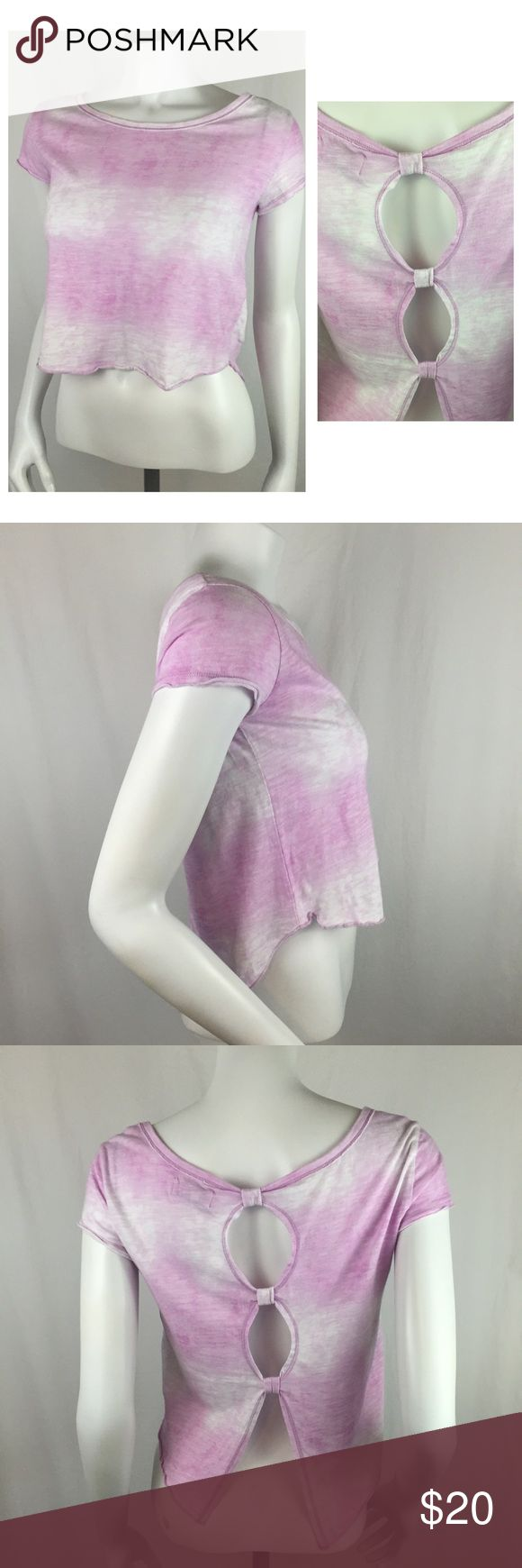 """Abercrombie Kids Cropped Festival Tie Dye Top Amazing Abercrombie Kids Cropped Festival Tie Dye Top. Kids size large fits my medium mannequin line a dream. Cute open back with ties connecting sections. Beautiful top for any summer outing. 16"""" long and 15"""" across the chest Abercrombie & Fitch Tops Crop Tops"""