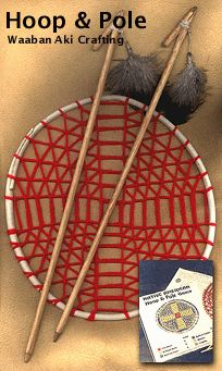 NativeTech: Native American Indian Games & Toys ~ Netted Hoop & Pole Game