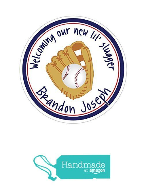 Personalized Customized Baby Shower Favor Thank You Stickers - Baseball - Round Labels - Choose Your Size