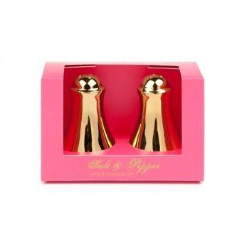 Little Diva - Salt and pepper set - Gold - Gift set - GBP 12,95 - #Gift