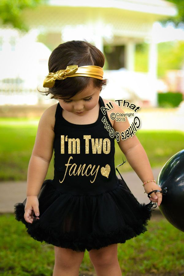 Glitter and Sparkly I'm Two Fancy 2nd Birthday Tutu Dresses For Toddler Girls