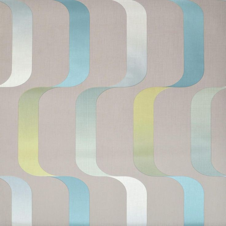 Ribbon Wallpaper, Blues