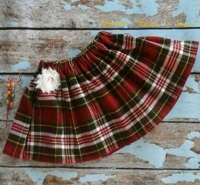 Girls Plaid Skirt, Baby Girls Twirl Skirt, Fall Plaid Skirt, Winter Christmas Plaid Skirt, Girls Clothes 0/3 Months to size 1