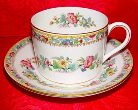 coalport ming rose bone china cup and saucer made in england