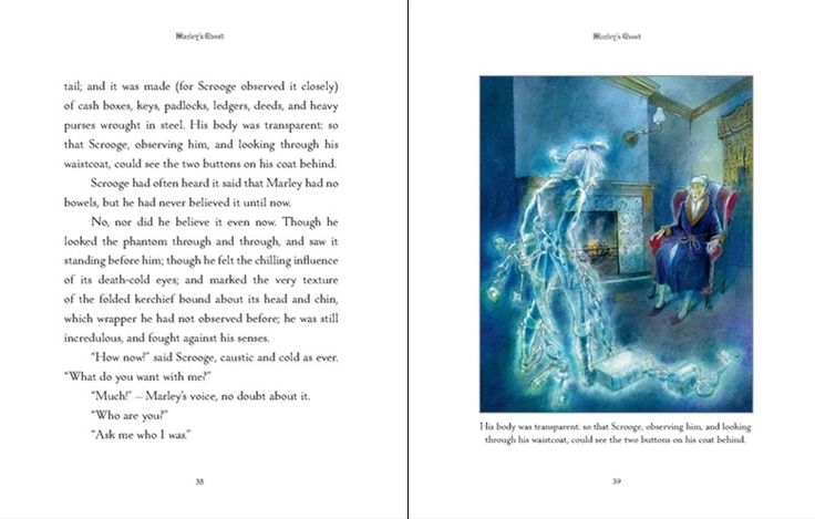 See inside #AChristmasCarol by #CharlesDickens. A beautiful, hardback #gift edition with complete and #unabridged text and gorgeous, watercolour #illustrations by Alan Marks. #Christmasgiftideas #childrensbooks #illustrated #Dickens