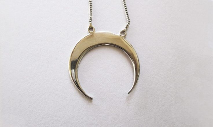 Silver Moon Necklace #moonpendant #moonandstars #jewellery #gift