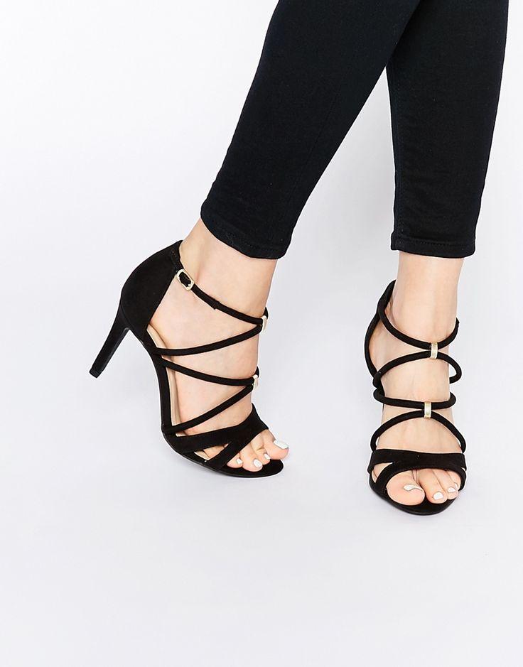 Изображение 1 из Сандалии на каблуке для широкой стопы с ремешками New Look
