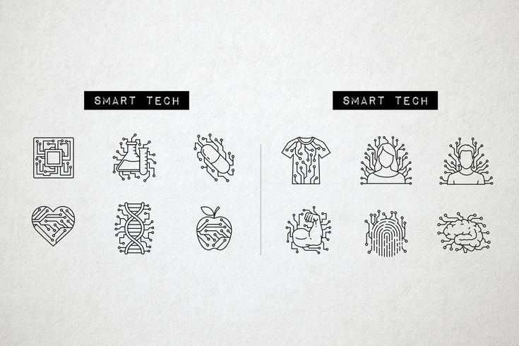60 Future Technology Icons, Robotics , #AFFILIATE, #Displays#VR#Fingerprint#Reading #Ad
