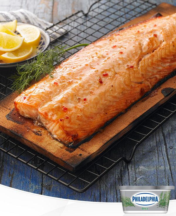 Nothing says summer like cooking dinner on the grill. Cedar Plank Salmon meets its match in this recipe with a creamy dill sauce made from fresh lemon, red onions and Philadelphia Dill Cream Cheese. It's a quick and easy dish that brings the taste of summer right to your plate.