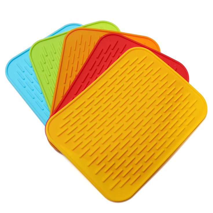 Non-slip Silicone High Temperature Insulation Pad Tableware Placemat Coaster Cup Mat