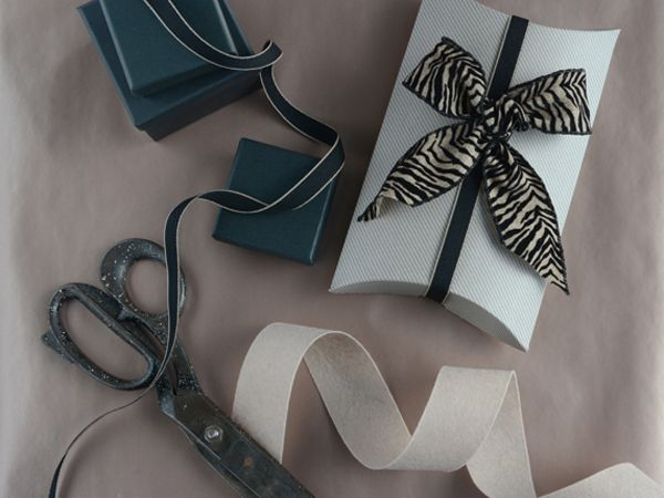 Gift boxes in many shapes and sizes..