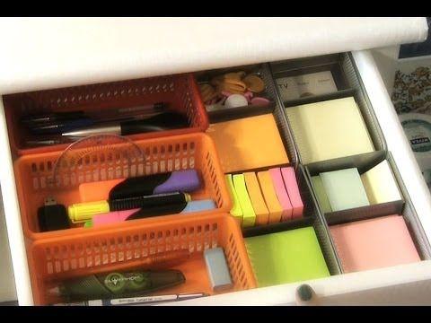 Организация стола! Канцелярия, магнитная доска, блокноты. 1 часть) - YouTube