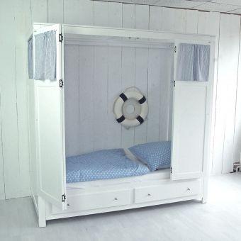 Kojenbett / Kajütenbett BOX mit Stauraum und Vorhang-Set, 90x200cm | günstig online kaufen | Dannenfelser Kindermöbel
