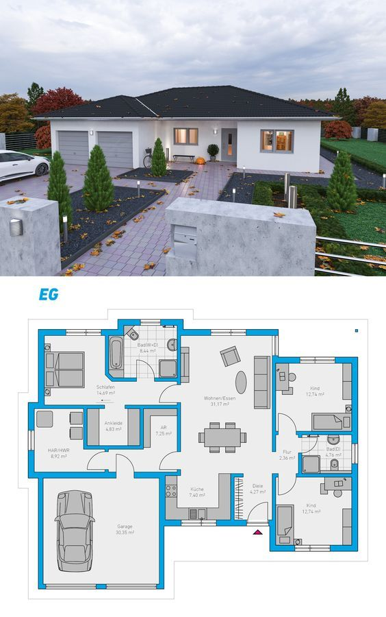 89 best Haus images on Pinterest House floor plans, Future house - express küchen erfahrungen