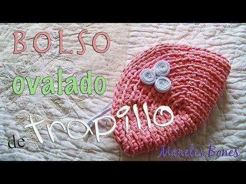 Bolso de trapillo ovalado | Tutorial DIY Crochet XXL