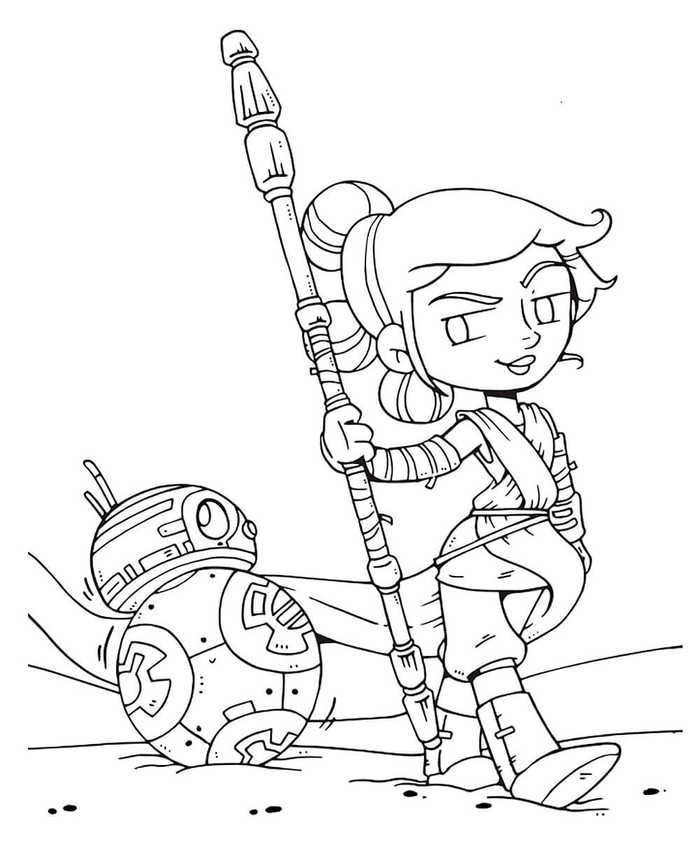 Star Wars The Final Jedi Coloring Web Page Rey And Bb Coloring Star Wars Coloring Sheet Star Wars Colors Star Wars Cartoon