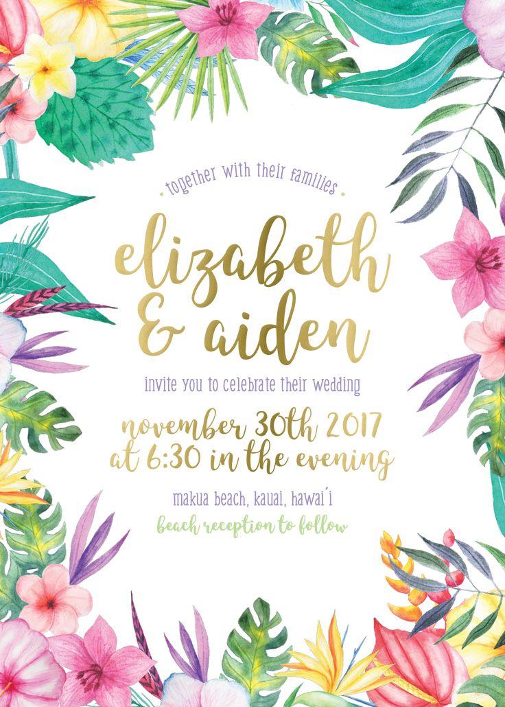 invitations hawaiian staggering wedding hawaii invitation