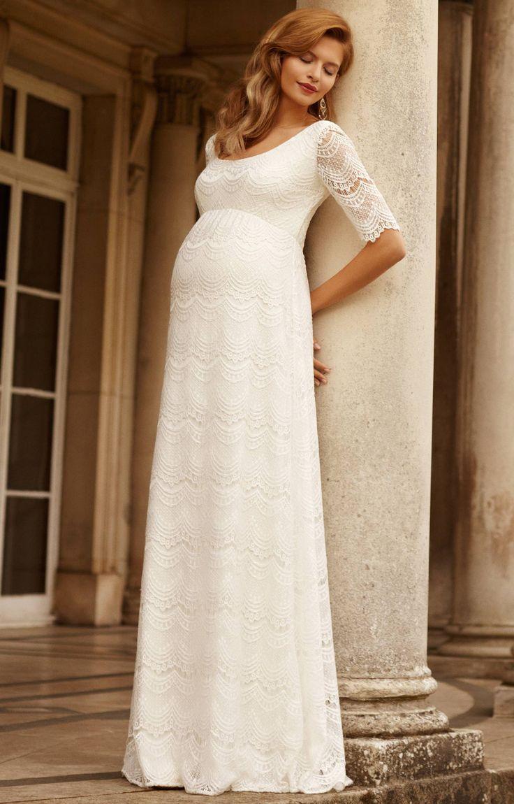 85 best maternity wedding dresses images on pinterest maternity femicuty maternity short sleeve soft wedding dress bridal gown customized custom made ivory ombrellifo Gallery