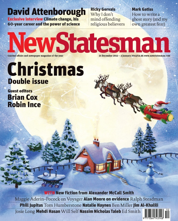 Christmas double issue, guest edited by Brian Cox and Robin Ince | 21 December 2012 - 3 January 2013