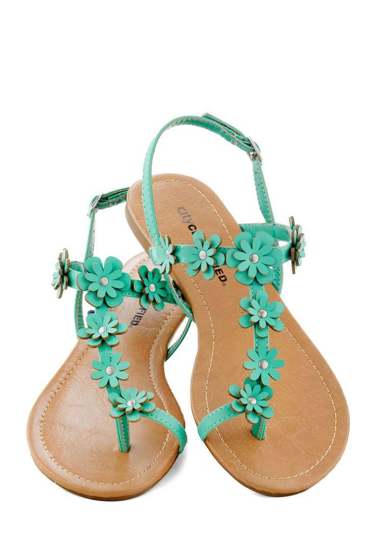 Garden Garland Sandal in Turquoise